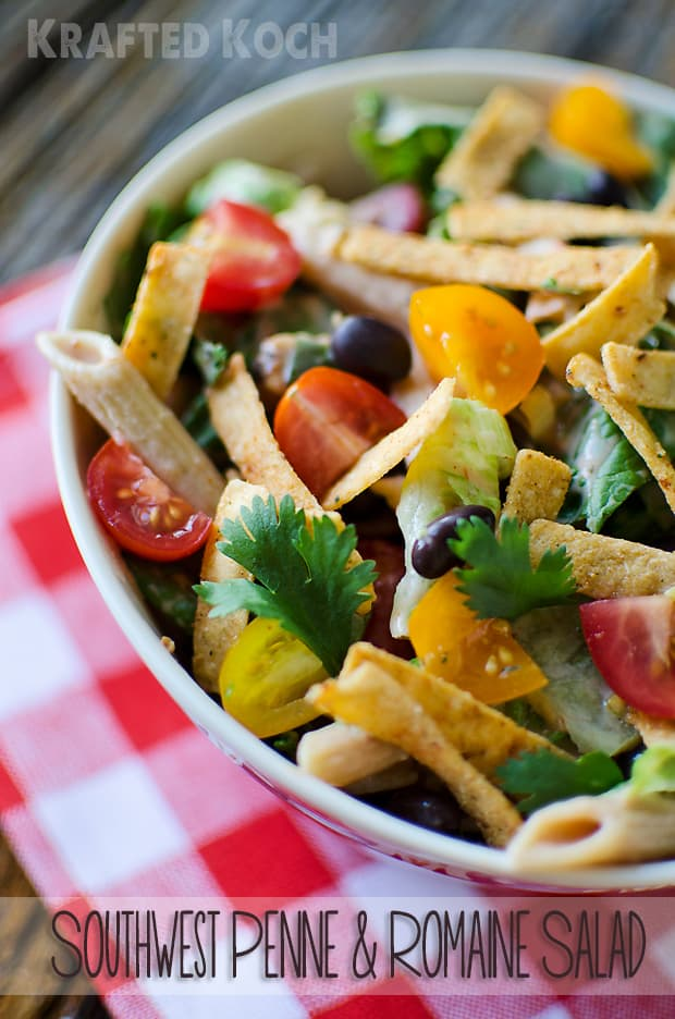 Southwest Penne & Romaine Salad ~ The Creative Bite